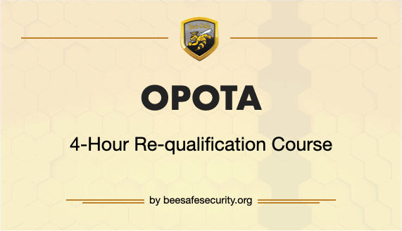 4 Hour Opota requalification course